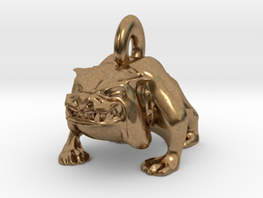 Bulldog Pendant in Natural Brass