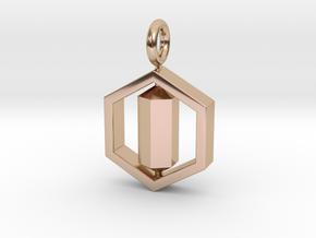 [customization] Double Six Pendant (fix) in 14k Rose Gold
