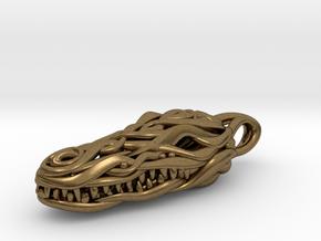 the Crocodile Head Pendant in Natural Bronze