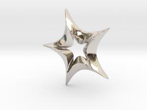 Star In A Star Spikey Round in Platinum