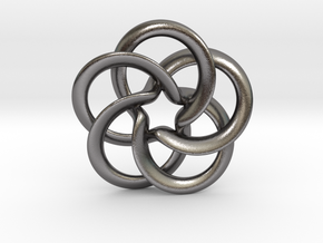 Toroid flower starry in Polished Nickel Steel: Medium