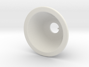 Toggle Switch Bezel Single in White Natural Versatile Plastic