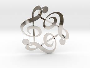 Triple G Clef in Platinum