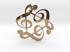 Triple G Clef in Polished Brass