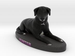 Custom Dog Figurine - Hunter in Full Color Sandstone