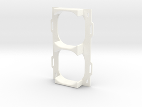 Front Vents Support in White Processed Versatile Plastic
