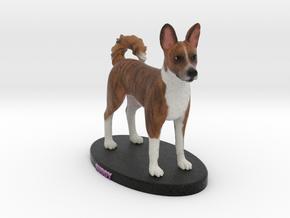 Custom Dog Figurine - Buddy in Full Color Sandstone