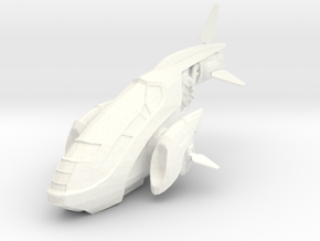 S Fighter in White Strong & Flexible Polished