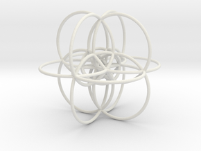 24-Cell Stereographic Projection in White Natural Versatile Plastic