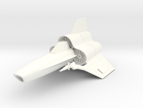 Viper MK-IV Fighter in White Strong & Flexible Polished