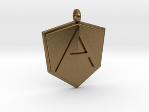 AngularJS Pendant in Natural Bronze