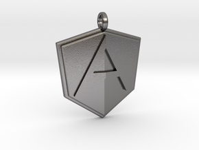 AngularJS Pendant in Polished Nickel Steel