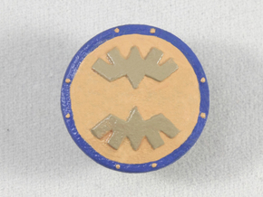 Banded Shield in Smooth Fine Detail Plastic