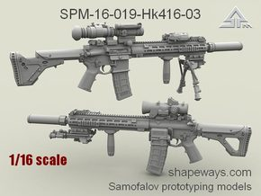 1/16 SPM-16-019-Hk416-03 HK 416 Variant III in Frosted Extreme Detail