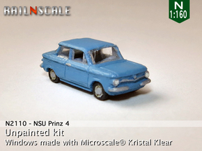 NSU Prinz 4 (N 1:160) in Smooth Fine Detail Plastic