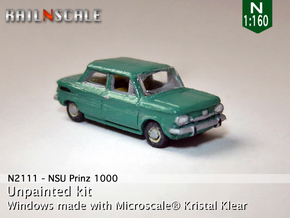 NSU Prinz 1000 (N 1:160) in Smooth Fine Detail Plastic