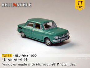 NSU Prinz 1000 (TT 1:120) in Smooth Fine Detail Plastic
