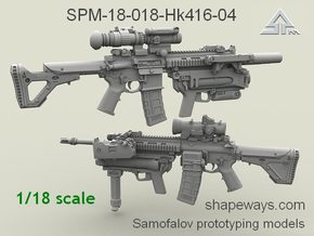 1/18 SPM-18-018-Hk416-04 HK 416 m320 Variant IV in Frosted Extreme Detail