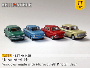 SET 4x NSU (TT 1:120) in Smooth Fine Detail Plastic