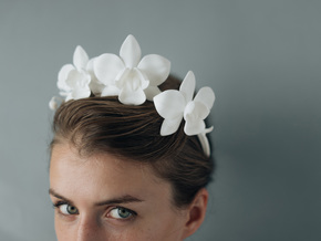 Orchid Crown in White Natural Versatile Plastic