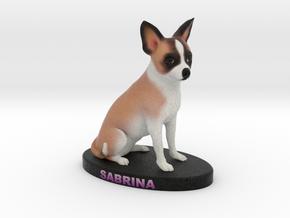 Custom Dog Figurine - Sabrina in Full Color Sandstone