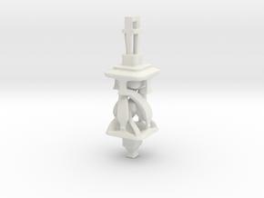 Twisting Tower Pendant in White Natural Versatile Plastic