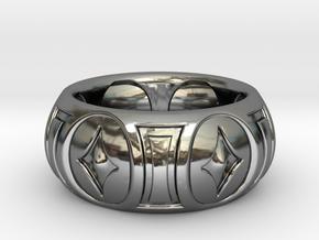 RINGER 2 SIZE 10 in Fine Detail Polished Silver