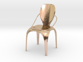 Spring chair in 14k Rose Gold Plated Brass