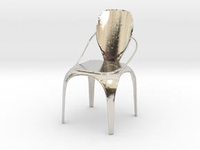 Spring chair in Rhodium Plated Brass