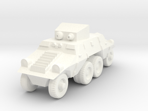 1/100 Austrian ADGZ Armored Car in White Processed Versatile Plastic