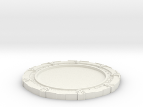 Stargate Coasters v2 in White Natural Versatile Plastic
