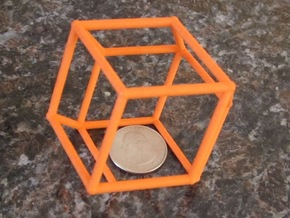 Rhombic Dodecahedron (100 cc) in Orange Processed Versatile Plastic