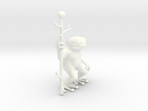 Little Frog Shaman in White Processed Versatile Plastic
