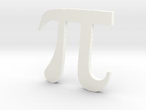 3D Printed Pi in White Processed Versatile Plastic
