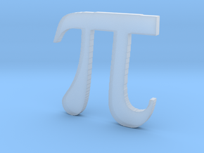 3D Printed Pi in Smooth Fine Detail Plastic
