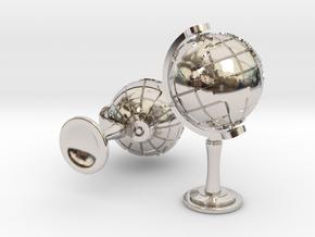 World Cufflinks in Platinum