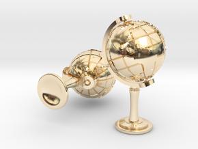 World Cufflinks in 14K Yellow Gold