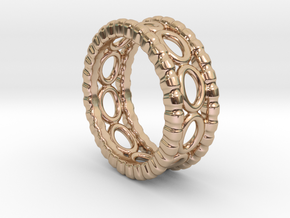Ring Ring 22 - Italian Size 22 in 14k Rose Gold Plated Brass
