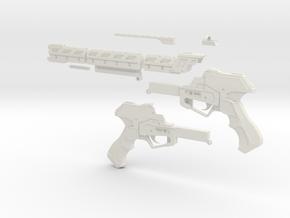 """RW1 Railgun Advanced Warfare """"Full scale"""" in White Natural Versatile Plastic"""