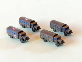 German MAN 630 5to Truck Van Body 1/285 6mm in Frosted Ultra Detail