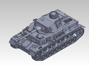 1/144 PzKpfw IV ausf.G (Middle Type) in Smooth Fine Detail Plastic
