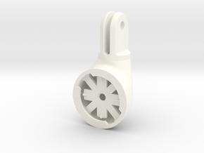 Garmin Varia Tail Light/Edge To GoPro Adapter in White Processed Versatile Plastic