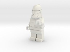 Clone Trooper in White Natural Versatile Plastic