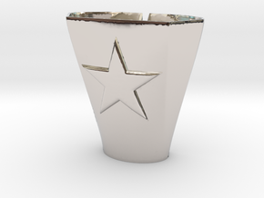 2-25-14star.5thickness in Rhodium Plated Brass