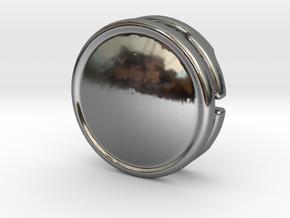 CM-BASICCHAMDOME1.25 in Fine Detail Polished Silver