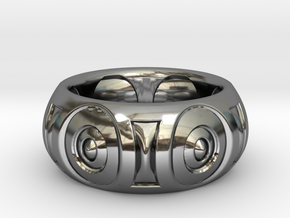Cave Man Ring Size 10 in Fine Detail Polished Silver