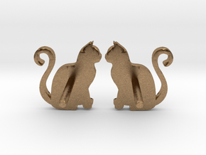 Cat Studs (Ver. 1) in Natural Brass