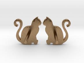 Cat Studs (Ver. 1) in Natural Brass