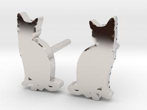 Cat Studs (Ver. 2) in Platinum