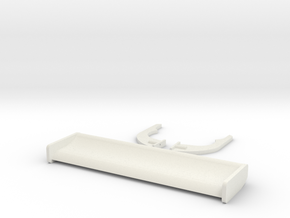 Dtm-spoiler 1/10 scale in White Natural Versatile Plastic